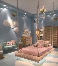 Teen bedroom hanging bed