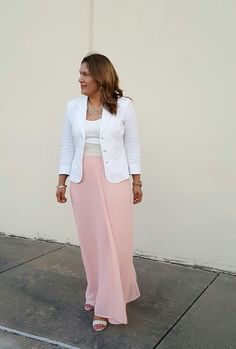 Maxi dress from @rossdressforless  Linen Blazer from @catofashions  #springfashion #ootd