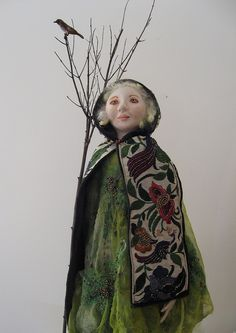 Into the Woods   Art doll: cloth over air dry clay head, clo…   Flickr