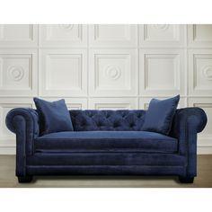 Modern Living Room Furniture Luxury Velvet Blue Sofa Removable ...