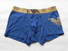 aa43b3da26e34b Men's New Emporio Armani Blue Small Trunk Boxer Underwear #fashion #clothing  #shoes #