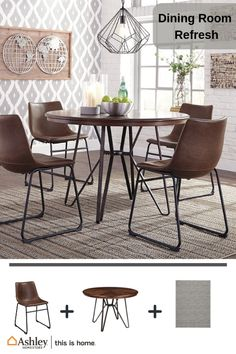 With Its Distinctive Tubular Metal Base The Centiar Counter Height Dining Table Ser Counter Height Dining Room Tables Dining Table Counter Height Dining Table