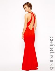 €156, Vestido Largo Rojo de Jarlo. De Asos. Detalles: https://lookastic.com/women/shop_items/144065/redirect