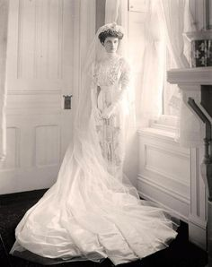 My wedding dress is quite a bit simpler -- described to me as a tea gown -- but cut along the same lines and with lots of tucks and inserts (early 1900s)