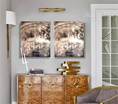 Items similar to painting set painting set set of 2 painting set set gold set of 2 wall art painting set original set of paintings art abstract on Etsy