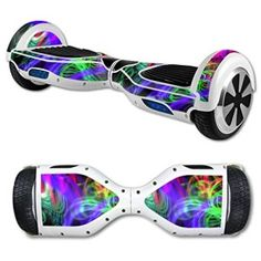 MightySkins Protective Vinyl Skin Decal for Hoverboard Self Balancing Scooter mini hover 2 wheel unicycle wrap cover sticker Neon Splatter