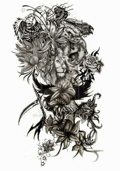 nice! !love tattoos! - i was thinking arm piece also - i think i am liking this for an arm piece -  this is very nice!  i wonder if this would make good side tatoo?! - Hi  - love it! im wanting something like this. . Upliked by LuluBell88