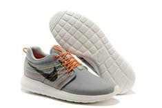 Nike Rosherun Dynamic Flywire Strata Grey Black Total Crimson Cool Grey Men's Running Shoes
