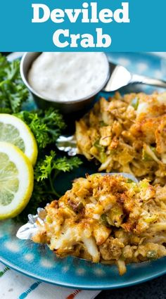 Homemade Deviled Crab with tons of fresh crab meat -southern -seafood -deviledcrab Crab Cake Recipes, Fish Recipes, Seafood Recipes, Mexican Food Recipes, Cooking Recipes, Healthy Recipes, Crab Dishes, Seafood Dishes, Gourmet