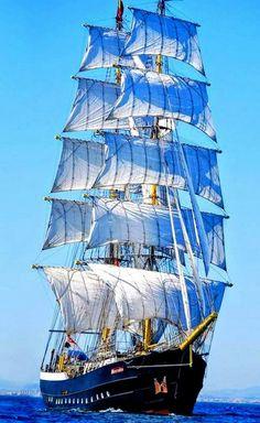 """Ships and Sailing Tall ships festival 2014 - Falmouth Dutch Tall Ship """"Mercedes"""" , , Tall ships festival 2014 - Falmouth Dutch Tall Ship """"Mercedes"""" , , Moby Dick, Bateau Pirate, Old Sailing Ships, Sailing Boat, Full Sail, Wooden Ship, Yacht Boat, Submarines, Wooden Boats"""