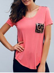 SHARE & Get it FREE | Leopard Short Sleeves U-Neck T-ShirtFor Fashion Lovers only:80,000+ Items • New Arrivals Daily • Affordable Casual to Chic for Every Occasion Join Sammydress: Get YOUR $50 NOW!