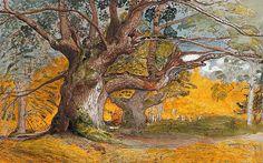 Samuel Palmer (1805-1881) - Oak Trees, Lullingstone Park, 1828