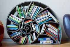 Kreatives #Bücherregal  in Form einer Schnecke