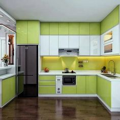 Simple Kitchen Design, Kitchen Room Design, Interior Design Kitchen, Kitchen Decor, Modern Kitchen Interiors, Modern Kitchen Cabinets, Kitchen Cupboard Designs, Kitchen Modular, Cuisines Design