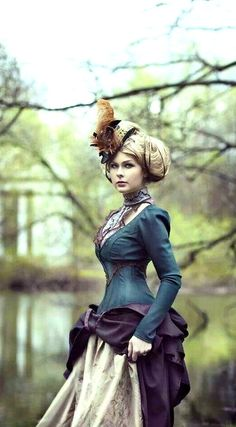 "You put Victorian fashion with the elements of the industrial revolution such as steam and create Steampunk. ""Steampunk is a sub-genre of scien… Viktorianischer Steampunk, Steampunk Clothing, Steampunk Fashion, Victorian Fashion, Vintage Fashion, Steampunk Dress, Gothic Fashion, Modern Victorian, Victorian Ladies"