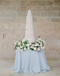 Inspired by old world Italy and Apulian Stone. Photography by Gianluca Adovasio, flowers by Bows and Arrows, Styling by Joy Proctor Tall Wedding Cakes, Beautiful Wedding Cakes, Beautiful Cakes, Destination Wedding Inspiration, Destination Wedding Planner, Taupe Wedding, Luxury Wedding, Big Indian Wedding, Decadent Cakes