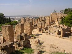 Remains of ancient Carthage, Tunisia