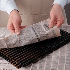 Easy Grill Cleaning    The next time you need to clean your grill, skip the expensive cleaners and reach for a newspaper instead. Immediately after grilling, remove the hot grill grates (using pliers) and wrap them in old newspapers that have been soaked thoroughly with water…keep the grates wrapped for 15 minutes. The resulting trapped steam loosens burned-on foods, which can then be easily scraped off.