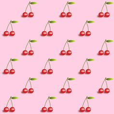 free digital cherry scrapbooking and fun papers – Kirschmuster - freebie | MeinLilaPark – DIY printables and downloads