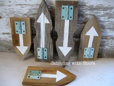 Chipping with Charm: Salvaged Fence Arrows...www.chippingwithcharm.blogspot.com