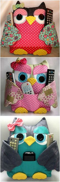 Sewing Toys - DIY Cute Fabric Owl Pillow with Free Pattern: Sew Owl Pillow Pattern, Owl Cushion, Remoter Owl Snuggle, Owl craft ideas for Home Decor Sewing Patterns Free, Free Sewing, Sewing Tutorials, Free Pattern, Pattern Sewing, Pattern Fabric, Owl Patterns, Sewing Ideas, Knitting Patterns