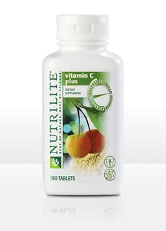 NUTRILITE® Vitamin C Plus Extended Release  180 tablets. Time release means cost effectiveness.The 500 mg of plant-based vitamin C you'll get in NUTRILITE Vitamin C Plus Extended Release comes from acerola cherries. It's more vitamin C than you would get from 7 oranges, 16 lemons, or 6 grapefruits! Contains no lactose, fructose, artificial flavors, artificial colors, artificial preservatives, or any artificial sweeteners.  $59.80