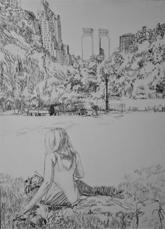 Acoustic Drawings The Shinji Ogata Gallery: At the Central Park (Manhattan, NY) 1 セントラルパークにて(ニ...