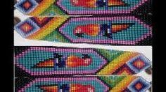 Resultado de imagen para pulseras de mostacillas y canutillos paso a paso