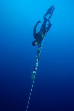 Herbert Nitsch is one of the leading free-divers in the world who is a record holder for many disciplines. He can also hold his breath for more than nine minutes ― the average person is said to be able to hold his or her breath for 30-40 seconds.
