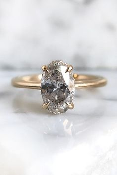 Diamond rings 536069161897350203 - Salt and Pepper Engagement Ring with an Oval Diamond Solitaire Source by honeyjewelryco Alternative Engagement Rings, Beautiful Engagement Rings, Designer Engagement Rings, Vintage Engagement Rings, Engagement Rings Not Diamond, Coloured Engagement Rings, Petite Engagement Ring, Inexpensive Engagement Rings, Filigree Engagement Ring