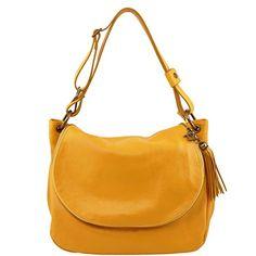 Tuscany Leather TL Bag - Soft leather shoulder bag with tassel detail