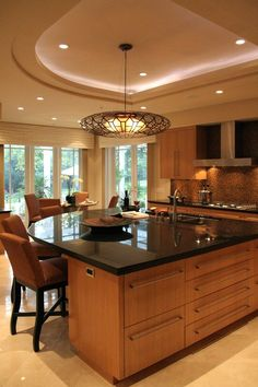 Kitchen Island Design Photos Curved kitchen island and Curves