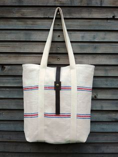 7910e21d49 Holiday Special 20% discount recycled antique linen carry all tote bag with  push button closure