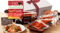 Gift of Enduring Health. Our popular wild Alaskan Sockeye and Halibut portions, wild Organic Blueberries, Salmon Sausage, and one of the best healthy foods books of the past decade - The 150 Healthiest Foods on the Earth, by Dr, Jonny Bowden.
