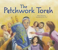 """As a child, David watches his grandfather, a Torah scribe or sofer, finish a Torah scroll for the synagogue. """"A Torah is not something to be thrown away,"""" his Grandfather explains. David's grandfather carefully stores the old Torah his new one has replaced in his cabinet, hoping to one day repair the letters so the Torah can be used again."""