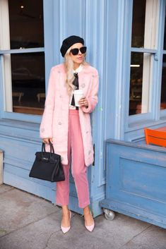 The Season's Must Have Item: Fabulous Faux Fur Coat. Styled in a Parisian inspired look. Valentines Day Outfits Casual, Casual Outfits, Faux Fur Jacket, Fur Coat, Fashion For Petite Women, Pink Fashion, Women's Fashion, Autumn Winter Fashion, Winter Style