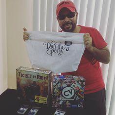 @fabricio.r.rodrigues garantindo seus jogos para o fim de semana! #DeliDaPersy #boardgame #tickettoride #cv