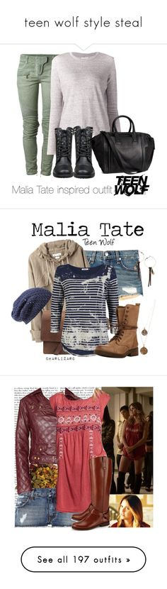 """""""teen wolf style steal"""" by mlainezrubi ❤ liked on Polyvore featuring Balmain, Paper Denim & Cloth, H&M, rag & bone, Étoile Isabel Marant, ONLY, Bee Charming, Steve Madden, Nordstrom and Topshop"""