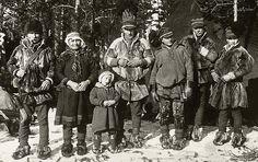 Swedish Sami family from the turn 1800 - 1900