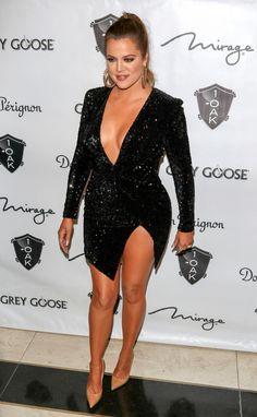 Khloe Kardashian is seen at 1Oak nightclub.