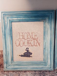 Painted picture frame with cork