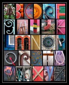 Coloured Alphabet Print by Abba Richman - could use for the elements/principles of design.