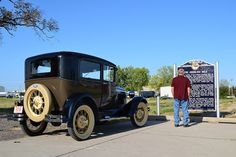 Model A at Seedling Mile in Grand Island, Nebraska. The last remaining paved seedling mile in the USA. Grand Island, Nebraska, Explore, History, Usa, Model, Historia, Scale Model