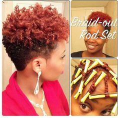 Braid-out Rod Set #hair #braid #out