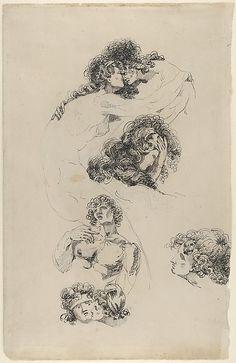 James Jefferys (British 1751-1784). Studies of Lovers Embracing, 1779.  The Metropolitan Museum of Art, New York. Purchase, Brooke Russell Astor Bequest, 2013  (2013.145).