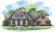Southern Style House Plans - 2898 Square Foot Home, 1 Story, 4 Bedroom and 4 3 Bath, 2 Garage Stalls by Monster House Plans - Plan 91-104
