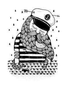 The Captain´s Dream - Alejandro Giraldo Sea Illustration, Artist Quotes, Creative Design, Folk, Doodles, Iphone Cases, Art Prints, Sketch, Graphics
