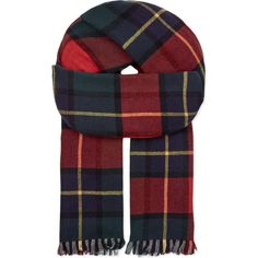 JOHNSTONS Brodie double face tartan scarf ($120) ❤ liked on Polyvore featuring accessories, scarves, kilgour, tartan scarves, plaid scarves, tartan plaid scarves, tartan shawl and johnstons