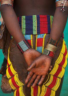 Hamer girl, Turmi, Ethiopia  by Eric Lafforgue