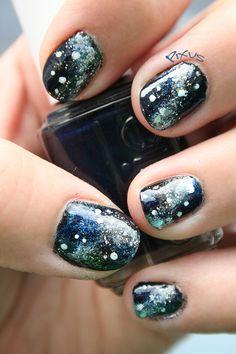 My nails: Galaxy nail art